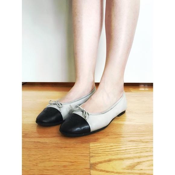 1483ef60a CHANEL Shoes | 800 Cap Toe Classic Ballet Flats 37 65 7 | Poshmark